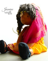 Jasmine in her Sari (Les PouPZ) Tags: yak art love feet wool vintage toy toys tricot clothing knitting ribbons shoes doll dolls teddy natural handmade linen lace embroidery sandals buttons unique ooak crochet waldorf chiffon felt collection yarn fabric cotton mohair teddybear romantic chic etsy artdoll lin decor pieds doudou rag doily ragdoll materials chaussures ours puppen laine steiner dukker shabby poupe appliqu broderie naturel sandales clothdoll vetements faitmain dollclothing napperon munecadetrapo dollectable poupeedechiffon cuddledoll lespoupz stoffepuppen baggydolls