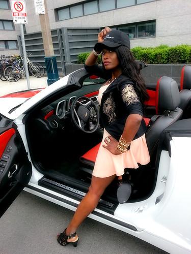 Queen Sabine with her Camaro 2014