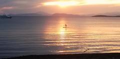 man on the sunset - Kavouri (spicros78) Tags: sunset sea sun man beach night boat athens greece mobilephone attica kanoe kavouri lgd605 lgl9ii