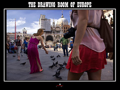 The Drawing Room of Europe (apertureshouptikbasuphotography) Tags: travel venice people italy portraits photography fan europe place candid pigeons culture documentary tourists canals masks gondola venezia piazzasanmarco peopleatwork stmarkssquare carnical columbina