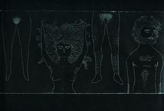 pelos ii (janeherkenhoff) Tags: woman man illustration hair naked engraving aquafortis