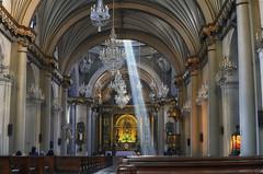 Light Beam (Fil.ippo) Tags: santodomingo lima peru church light beam interior luce fascio chiesa sandomenico d5000 filippo filippobianchi