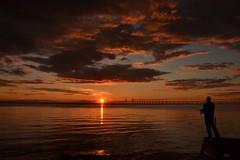 Surrounded by golden sunset flares (inca789) Tags: sunset skne fishing jetty malmoe malm goldenhour brygga resund oeresund flugfiske bleke sunsethunter