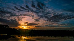 It Dawned on Me (Carl's Captures) Tags: morning sunset sun reflection nature june clouds sunrise skyscape landscape outdoors dawn day cloudy horizon silhouettes si