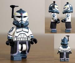 Custom LEGO Commander Wolffe (Clone Wars Phase 2) (JPO97Studios) Tags: 2 trooper star wolf lego pack wars custom clone phase decals commander wolffe jpocustoms
