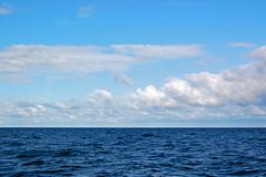 Ostsee bei den Jasmunder Kreidefelsen (Pixelteufel) Tags: see meer wasser urlaub himmel insel rgen ostsee ferien freizeit horizont tourismus wellen mecklenburgvorpommern brandung erholung gewsser ostseekste jasmund ostseeraum