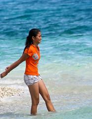 Happy Filipina (Exciting Cebu -- Rusty Ferguson) Tags: family beach swimming philippines cebu filipina lovely islandhopping bogocity capitancilloislet april2012