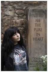 Gabriella, blessed are the pure in heart (theimagebusiness) Tags: uk portrait people woman hot cute sexy abandoned church girl leather stone angel hair scotland model eyes pretty slim young photographers tshirt jeans jacket attractive hazeleyes sultry portfolio raven extrovert theimagebusiness photographersinscotland theimagebusinesscouk photographersinwestlothian