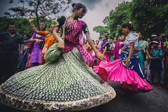 Dance at Isckon Rath Yatra (tanayesh) Tags: india canon dance colours dancing dancer tradition kolkata rath westbengal isckon sigma1020mm rathyatra indianladies canon60d colourfulkolkata
