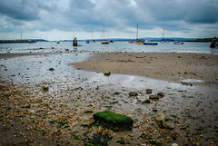When the tide goes out (Linda Love Photography) Tags: sky rock boats sand nikon stones pools shellfish stranded d60