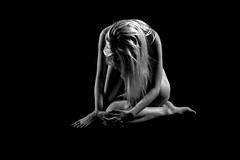 B&W Model (Dave Cool Britannia) Tags: blackandwhite bw art beauty female studio nude model nikon artistic 10000 artnude d3200 creativenude