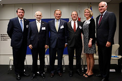 Moldova Amb. Igor Munteanu; Georgia Amb. Archil Gegeshidze; Ukraine Amb. Olexander Motsyk; Eric Rubin, Bureau of Bureau of European and Eurasian Affairs; Dr. Karen Donfried, President, the German Marshall Fund U.S.; EU Amb. João Vale de Almeida