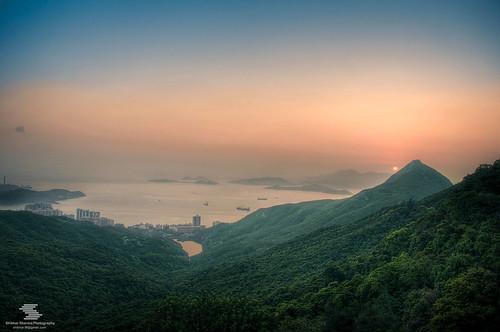 Sunset at the peak, Hong Kong