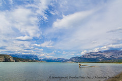 Jasper-0755 (Mathieu Dumond) Tags: summer sky mountain lake canada tree beach clouds log jasper july alberta