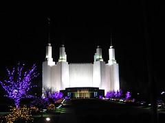 Mormon Temple - night Christmas time (d1pinklady) Tags: city usa tourism temple washingtondc us dc washington metro capital cityscapes tourist wdc views mormon visitors monuments lds