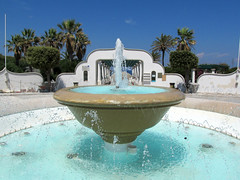 Kalithea Springs, fountain (pefkosmad) Tags: vacation holiday history beach nature architecture buildings hellas mosaics greece health springs mineral waters restoration fountains rotunda greekislands griechenland spa rhodes italians pergola dodecanese kalithea pefkosjune2014