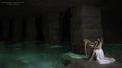 Mythologie Caennaise #7 (Sylvain Beuve) Tags: art water eau lac normandie calvados caen souterrain grotte nue licorne pilier obscur carrire mythologie harpe desse sirne naade