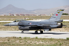 87-0011_F-16CFightingFalcon_TurkishAF_KYA_Img02 (Tony Osborne - Rotorfocus) Tags: turkey force martin exercise general eagle air f16 falcon fighting lockheed viper dynamics 142 turkish 2014 anatolian f16c