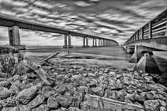 DSC_1141-54-55.jpg (RHMImages) Tags: longexposure bridge blackandwhite bw water monochrome landscape log nikon rocks shoreline delta explore le stump antioch oakley ebrpd d600 10stop ebparksok antiochoakley