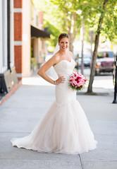 Bride in downtown Wilmington