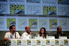 Rob Riggle, Keegan-Michael Key, Nina Dobrev & Damon Wayans, Jr. (Gage Skidmore) Tags: california michael san key comic cops lets diego center rob convention be keegan nina damon con 2014 wayans riggle dobrev