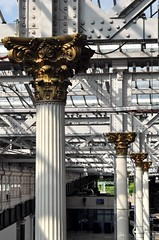 Edinburgh Waverley details - 4 - Architectural fittings on columns. (Raymondo166) Tags: detail station train foundry design photo edinburgh iron looking top capital fine columns lancashire company cast corinthian column waverley capitals widnes fluted fitted