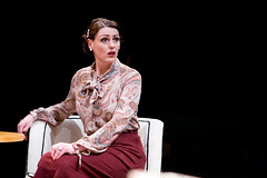 Suranne Jones as Ruth Condomine in BLITHE SPIRIT by Noel Coward (Royal Exchange Theatre 9 December - 23 January). Photo - Jonathan Keenan... (Royal Exchange Theatre) Tags: katiewest charles ruth director edith elvira noelcoward royalexchangetheatre blithespirit madamearcati surannejones petertemple wendynottingham sarahfrankcom drbradman annettebadland milotwomey mrsbradman nellyharker