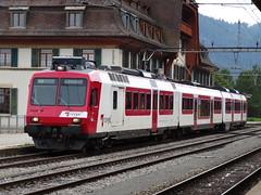 Travys/PBr Electric motor unit type RBDe 568 with a shuttle train in Vallorbe. (Franky De Witte - Ferroequinologist) Tags: de eisenbahn railway estrada chemin fer spoorwegen ferrocarril ferro ferrovia