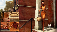 Orange ( Baronne ) Tags: summer orange house black feet mannequin beauty leather fashion stairs bag french glasses 3d model shoes toes toe play dress mesh body chocolate avatar tan dressing secondlife belle lamb feets t mode pieds mules escalier uber accessoires striped visage physique itgirl doigts accesory ison virtualworld slink accssories thaliaheckroth pixelfashion vive9 azoury vivenine blackfashionfair
