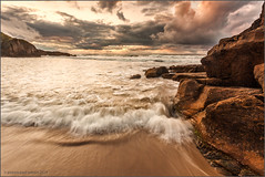 Cove Bay 4 (Andrew Paul Watson) Tags: light sunset 2 seascape rock clouds canon project bay scotland highlands cove mark tide ii 5d moray
