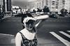 (fancy flight) Tags: street shadow bw girl contrast moscow fancyflight
