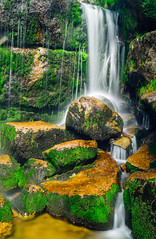Jedlov (J.Ch. Photo) Tags: autumn mountains tree green fall water colors rock les forest giant waterfall rocks republic czech strom voda podzim hory zelen jizerky skla vodopd skly barvy podzimn jizersk