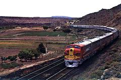 AT&SF EMD F7A #304 with the San Francisco Chief, Dalies, N.M.  mid 1960s (Hiawatha 6 aka High Iron) Tags: railroad usa newmexico santafe train locomotive atsf f7a dalies sanfranciscochief
