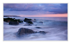 Keyhaven (muddlemaker1967) Tags: longexposure sunset seascape blur water clouds rocks hampshire needles the