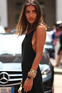 Patricia Manfield at Milan Fashion Menswear day 2