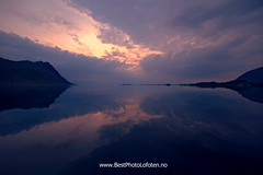 Mirroring clouds (June Grnseth EFIAP PPSA) Tags: mountains clouds reflections spectacular symmetric lofoten bestphotolofoten