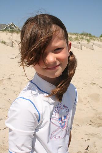 B on Beach