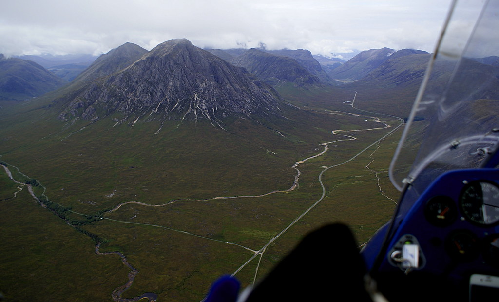 The Buachaille in sight and Glen Coe ahead