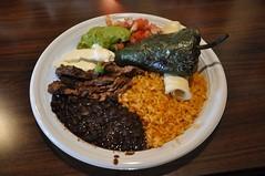 Zona Fresca Lunch (sfPhotocraft) Tags: lunch pepper beans rice florida plate mexicanfood salsa tortilla delraybeach zonafresca