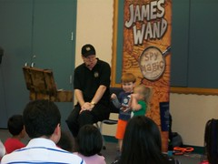 The Secret Agent Magic Show with James Wand @ Harrington Library 9/13/14 (plano.library) Tags: secretagent magicshow jameswand library libraries program ages connecting families plano public system harringtonlibrary