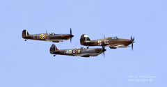 Two spits and a hurricane (ChrisUK27) Tags: world 2 flying war fighter force aviation military air hurricane royal battle formation spitfire pilot goodwood britian raf revival