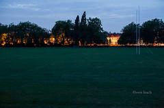 Tottenham Pitch (Sven's extras (sven loach)) Tags: park trees houses summer grass night 50mm lights football victorian row pitch lonely goalpost tottenham haringey eveing terraced northlondon d700 downhillspark