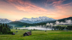 A Secret Place on this Earth (Daniel Vogelbacher) Tags: lake mountains clouds canon germany de bayern deutschland see wolken berge alpen sonnenaufgang hdr garmischpartenkirchen gerold geroldsee wagenbrchsee