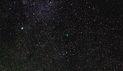 Comet C/2014 E2 (Jacques) near Deneb (Radical Retinoscopy) Tags: stack astrophotography astronomy nightsky comet jacques solarsystem comets astrophoto milkyway deneb cygnus skytracker imagesplus ioptron c2014e2 cometjacques