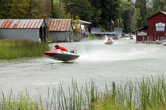 Airborne On The Crooked River (Robert F. Carter) Tags: alanson alansonmichigan boats boatracing crookedriver boathouses topomichiganmarathonnationals crookedtreephotographicsociety robertcarterphotographycom ©robertcarter puremichigan