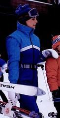 4895375 (onesieworld) Tags: snow ski fashion one shiny retro suit 80s piece nylon 90s catsuit onesie kink