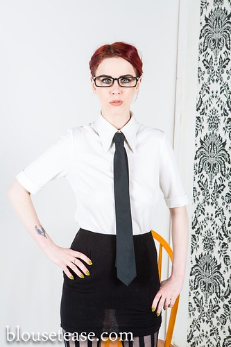 Mia Valentine   The Job Interview   Blouse Tease