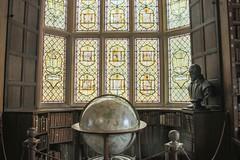 Merton College, Oxford - library (2) (nican45) Tags: slr window statue canon globe university library sigma stainedglass books oxford dslr 1770 oxforduniversity merton mertoncollege 1770mm eos70d 1770mmf284dcmacro