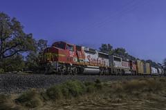 Santa Fe 152 (smbrooks_2000) Tags: california santafe trains rails unionpacific bnsf locomotives railroads lodi emd gp60 fallenflag