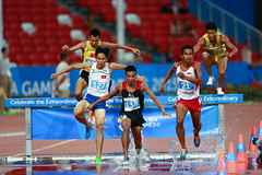 Mens 3000m steeplechase (Rev'it) Tags: seagames athletics jump obstacle steeplechase vformation 28thseagames